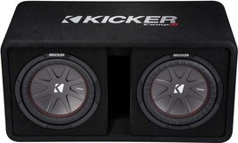 Kicker 2x10 1600W 2 ohm Ported Dual Enclosure Subwoofer and Pioneer 2400W Class D Mono Amp in Stuttgart, GE