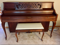 Upright Console KIMBALL Piano W/Storage Bench CHERRY FINISH-BEAUTIFUL in Tinley Park, Illinois