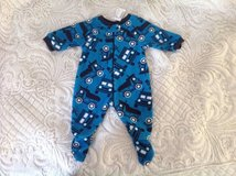 New the Children's Place Baby Boys Truck 1-Piece Fleece Sleeper, Pajama, size 3-6 months in Palatine, Illinois