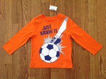 New with Tags the Children's Place Toddler Boys Long Sleeve Soccer Ball Graphic Tee, size 2T in Palatine, Illinois