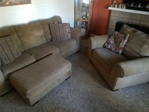Couch, chair and 1/2 and ottoman in Fairfield, California