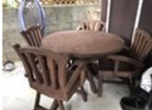Teak Table with chairs in Okinawa, Japan