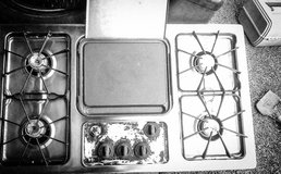 G.E. stainless steel gas countertop stove w/ griddle in Las Vegas, Nevada
