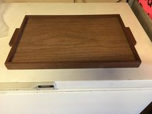 Wooden Food Tray with handles in Bolingbrook, Illinois