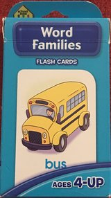 School Zone Word Family Flash Cards in Okinawa, Japan