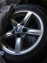 BMW E46 rims with summer tires in Wiesbaden, GE