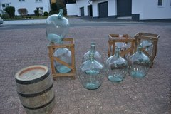 Antique and Vintage mouth blown DEMIJOHNS 10L 25L 30 L 50L 65L green blue clear amber in Wiesbaden, GE