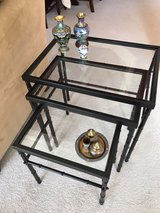 Metal and Glass Nesting Tables in Plainfield, Illinois