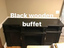 Black Painted Buffet, Entertainment Center in Wilmington, North Carolina