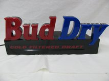 BUDWEISER BUD DRY Cold Filtered Draft Neon Bar Sign Light Bar Deco Man Cave Rare in Fort Campbell, Kentucky