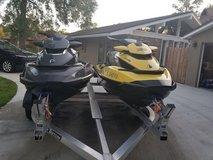 Pair of Seadoo GTX jetskies and trailer in Tampa, Florida