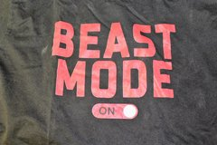 BEAST MODE On/Off Black Gym Work Out Men's Large Graphic Casual Tee T-Shirt in Kingwood, Texas