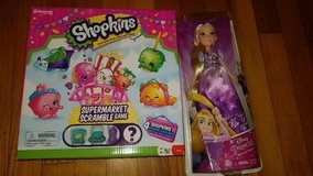 Rapunzel doll and shopkins game in Fort Leonard Wood, Missouri