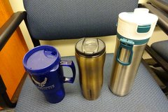 Insulated Starbuck Coffed Cup, Alladin Insulated Coffee Cup and US AF Cup in Okinawa, Japan