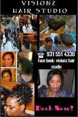 Visions hair studio in Fort Campbell, Kentucky