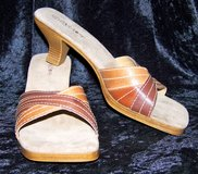 Cara Mia Mules, LIKE NEW!  Suede & Faux Leather, 9 1/2 in Alamogordo, New Mexico
