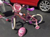 Disney Princess Bike with Basket Carriage and Helmet in New Lenox, Illinois
