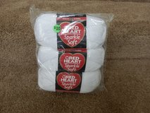 3 Skeins Sparkle Soft White Yarn in Oswego, Illinois