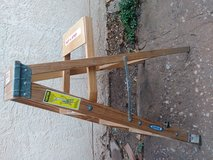 Wood step ladder with platform in Alamogordo, New Mexico