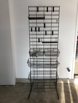 Grid Wall with T-Legs Includes Shelves, Baskets and Hooks in St. Charles, Illinois