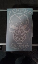 Pepper death decals in Wilmington, North Carolina