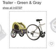 In Step bike trailer seating for two in Naperville, Illinois