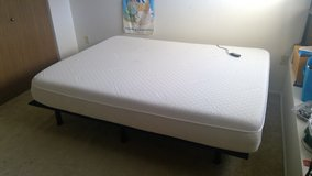 Queen Tempurpedic Bed with Adjustable Head Base in Tacoma, Washington