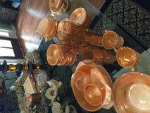 45 pc peach lustre glass in Fort Polk, Louisiana