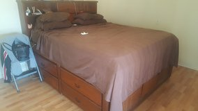 King size bed and mattress with chest of drawers in 29 Palms, California