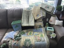 Baby bed quilt and accessories in Sandwich, Illinois