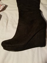Black Suede heeled boots 8 in Lackland AFB, Texas