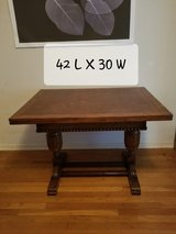 Brown Antique 2 Leaf Table + 4 Chairs in Fort Sam Houston, Texas