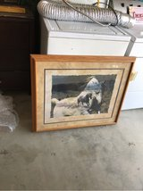 horse painting in oak frame in Yucca Valley, California