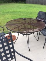 Iron Patio Table With Four Chairs in Camp Lejeune, North Carolina