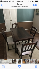 Table-4 chairs-buffet antique in Katy, Texas