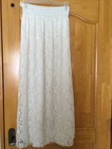 White long lace skirt ( New) size S/M in Okinawa, Japan