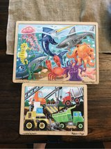 Melissa and Doug wood puzzles in Okinawa, Japan