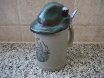 Cute stein w/ Bavarian hat lid in Stuttgart, GE