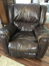 Leather Couch & Recliner in Camp Lejeune, North Carolina