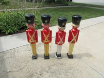 Vintage Blow Mold Toy Soldiers in Shorewood, Illinois