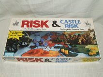 Risk & Castle Risk Board Game Classic Military Strategy 2 Games in 1 in Oswego, Illinois