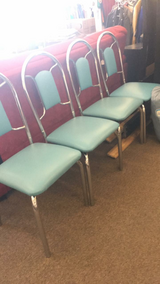 Teal Chairs - Set of 4 (New) in Fort Leonard Wood, Missouri