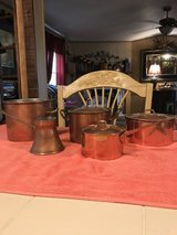 Copper and brass pots and pans in Fort Leonard Wood, Missouri