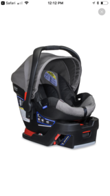 Britax b-Safe 35 infant car seat with base in Fort Leonard Wood, Missouri