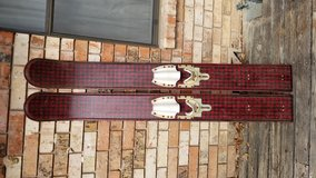 Vintage Herter's Red Antique Water Skis in Fort Sam Houston, Texas
