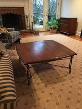 Square, Wood and Iron coffee table in Macon, Georgia