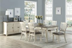 "BRAND NEW! UPSCALE SOLID WOOD ""SAVANAH"" DINING SET WITH BENCH! in Camp Pendleton, California"