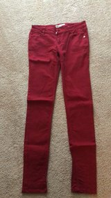 Red skinny jeans in Perry, Georgia