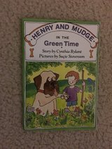 Henry and Mudge in the Green Time book in Camp Lejeune, North Carolina