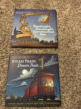 Steam train, Dream train and Goodnight Goodnight construction site hardcover book set in Oswego, Illinois